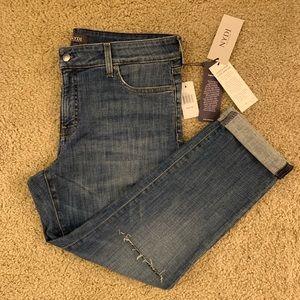 NWT NYDJ Boyfriend Jeans w/knee slit (lift & tuck)